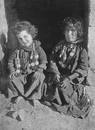 ISRAEL. Children wearing charms against the Evil Eye;  1900 old antique print